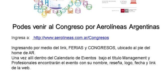 Podes venir al Congreso por Aerolíneas Argentinas