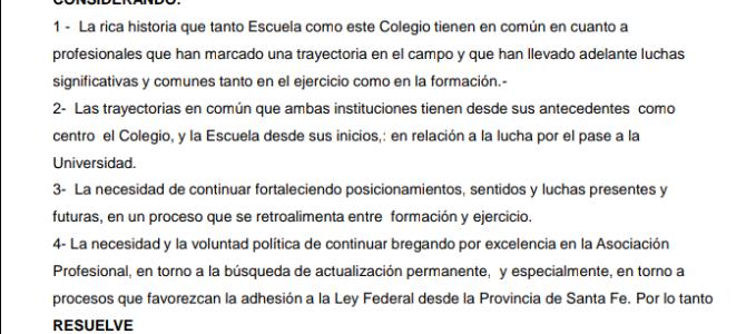 Declaración de Interés de los 75 años de la Escuela de Servicio Social