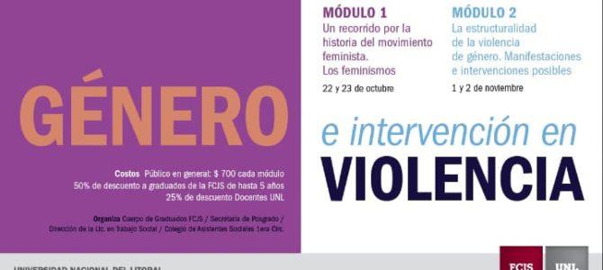Curso de Posgrado «Género e Intervención en Violencia»