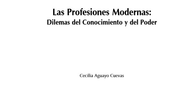 Las Profesiones Modernas-Aguayo
