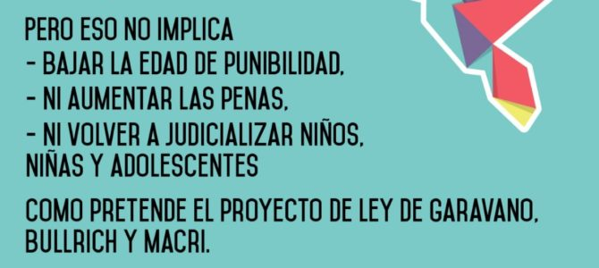 Posicionamiento de la Red Argentina no Baja ante el proyecto de reforma el régimen penal juvenil