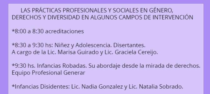 2 de agosto: 3º Encuentro de las Jornadas de Género