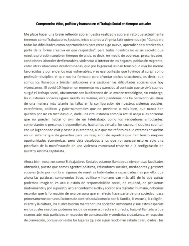 Compromiso ético, político y humano en el TS en tiempos actuales-Karol Arteaga Lopez