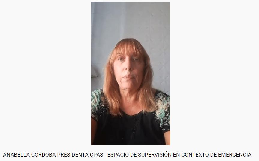 Espacio de Supervisión en contexto de emergencia. Mensaje de Anabella Córdoba