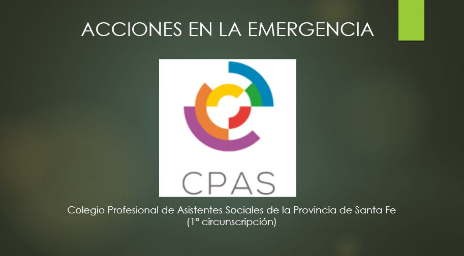 Video: Acciones del CPAS en la emergencia