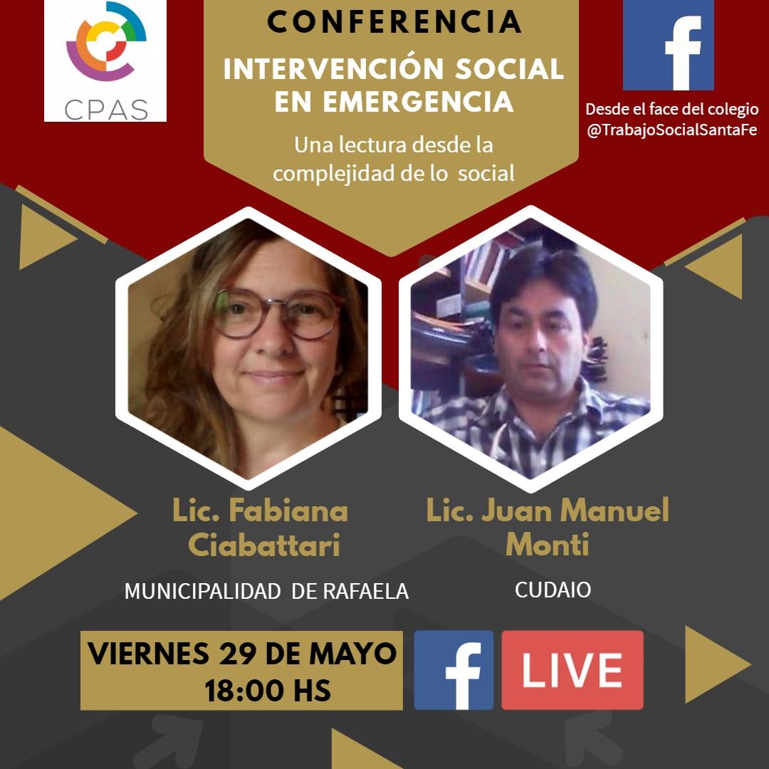 4º Conferencia Intervención Social en Emergencia