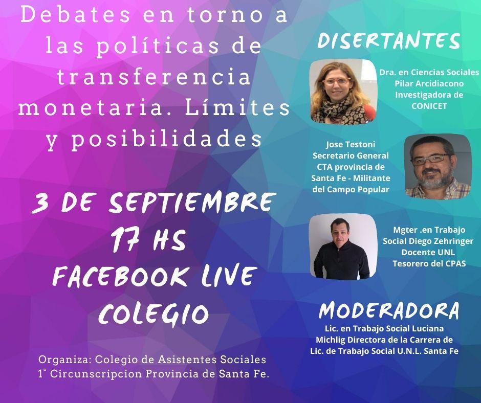 Ciclo de Formación: Debates en torno a las políticas de transferencia monetaria. Límites y posibilidades.