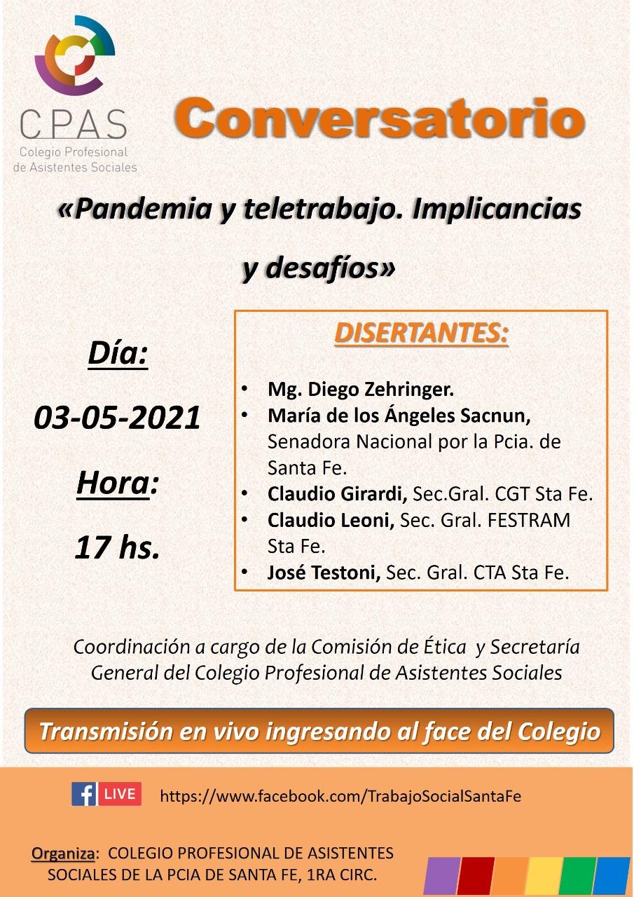 Conversatorio: Pandemia y Teletrabajo. Implicancias y Desafíos