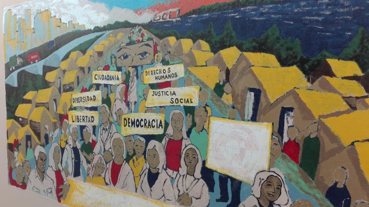 Mural: Los Derechos Humanos y el Arte: «Espejos de Nuestra Historia».