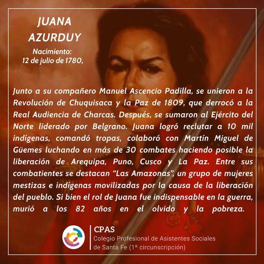 Natalicio de Juana Azurduy