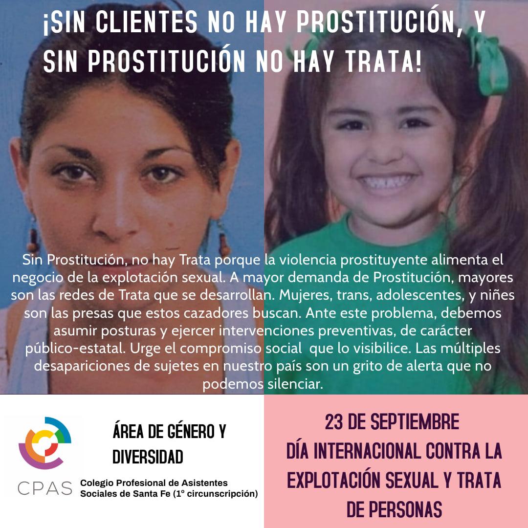 Día Internacional contra la explotación sexual y trata de personas